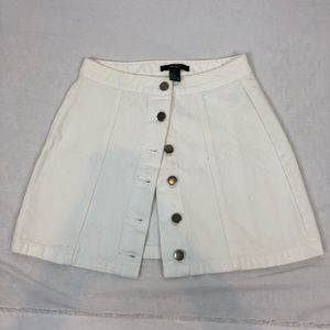 White button up skirt✨
